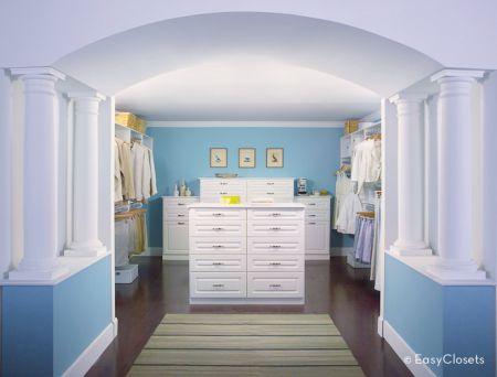 کمدلباس زناناه آبی سفید
