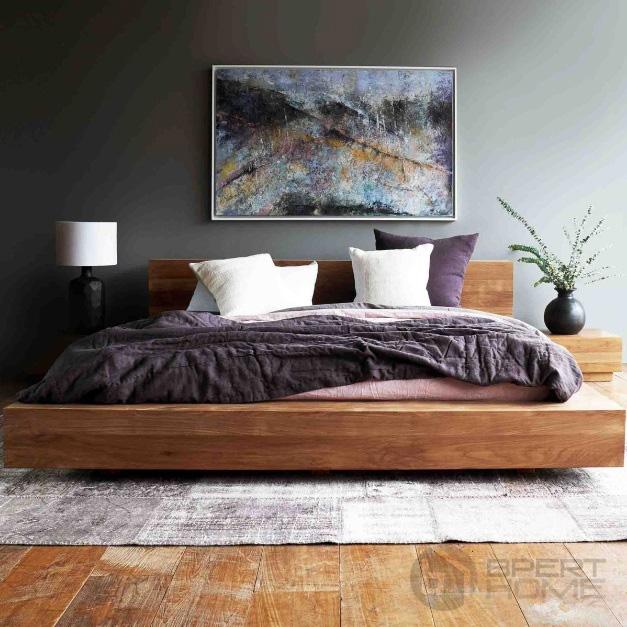 تخت خواب مدرن با روکش مخمل